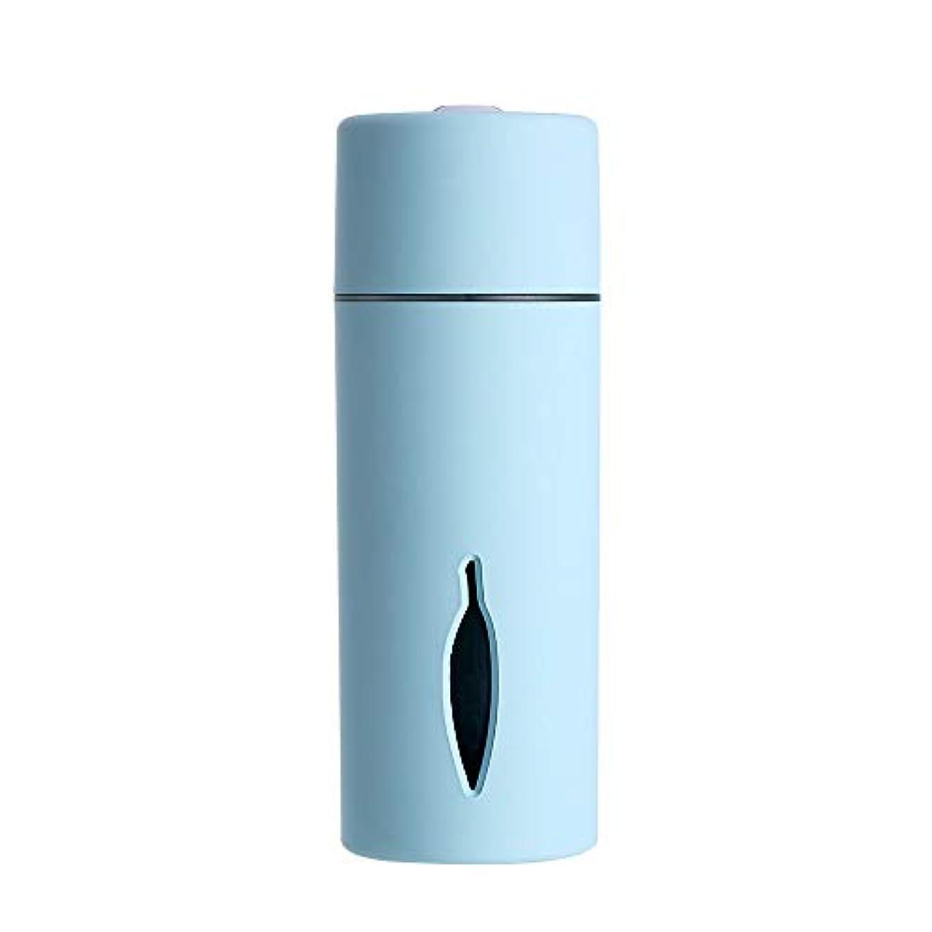 サワー喜んで鬼ごっこZXF クリエイティブ新しいカラフルな夜の光の葉加湿器usb車のミニホームスプレー楽器水道メーターブルーセクションピンク 滑らかである (色 : Blue)