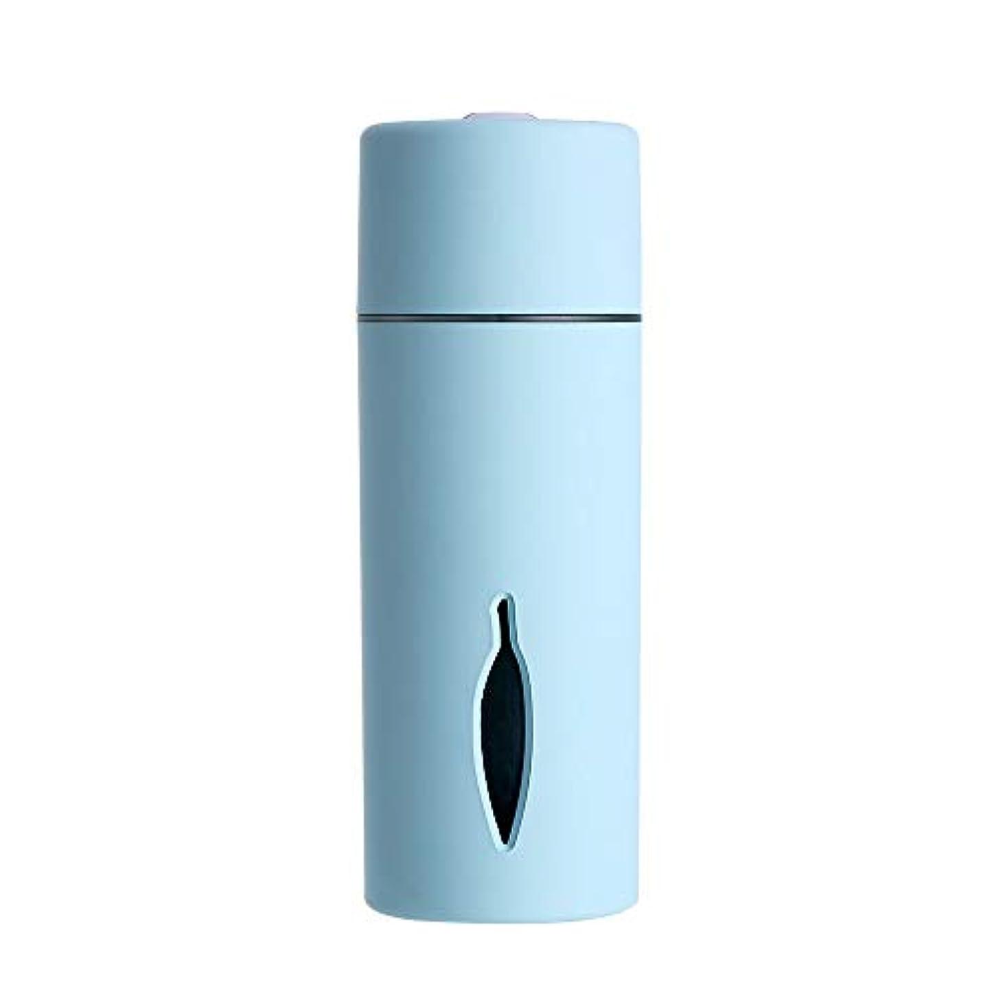大使山岳補正ZXF クリエイティブ新しいカラフルな夜の光の葉加湿器usb車のミニホームスプレー楽器水道メーターブルーセクションピンク 滑らかである (色 : Blue)