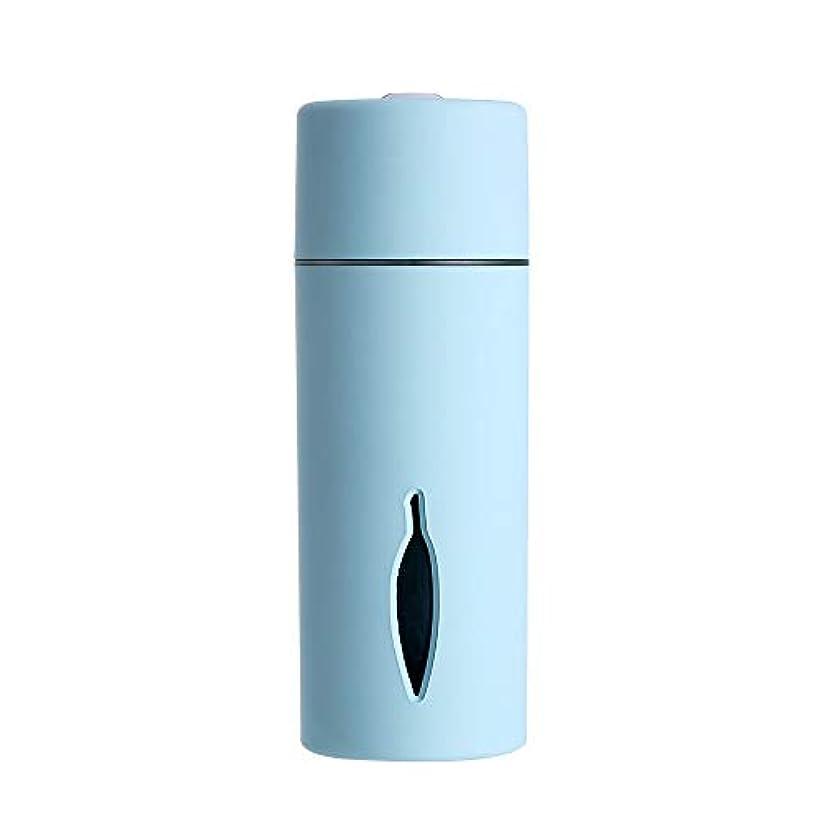 リンス豊富なモニターZXF クリエイティブ新しいカラフルな夜の光の葉加湿器usb車のミニホームスプレー楽器水道メーターブルーセクションピンク 滑らかである (色 : Blue)