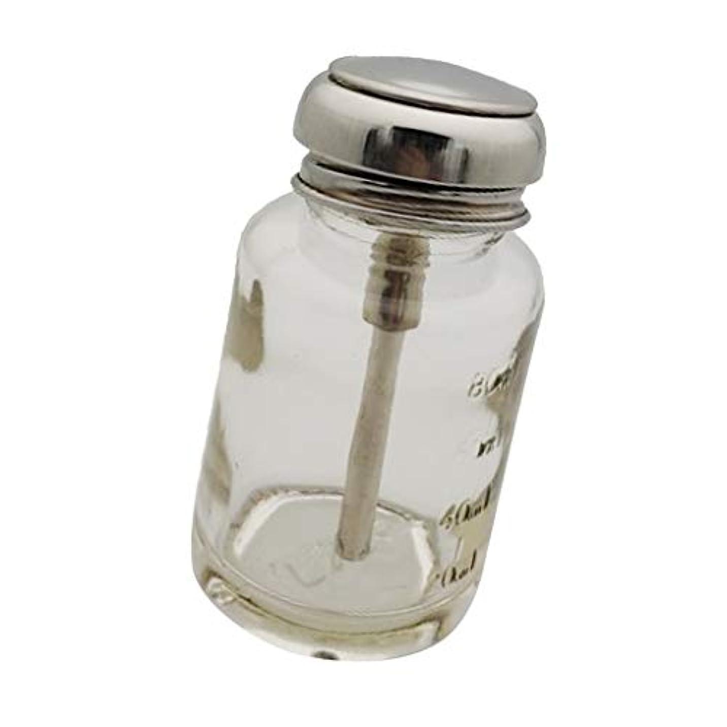 パンサー足回転させるポンプボトル プレスボトル ディスペンサーボトル マニキュア 除去剤 メイク落とし 小分けボトル