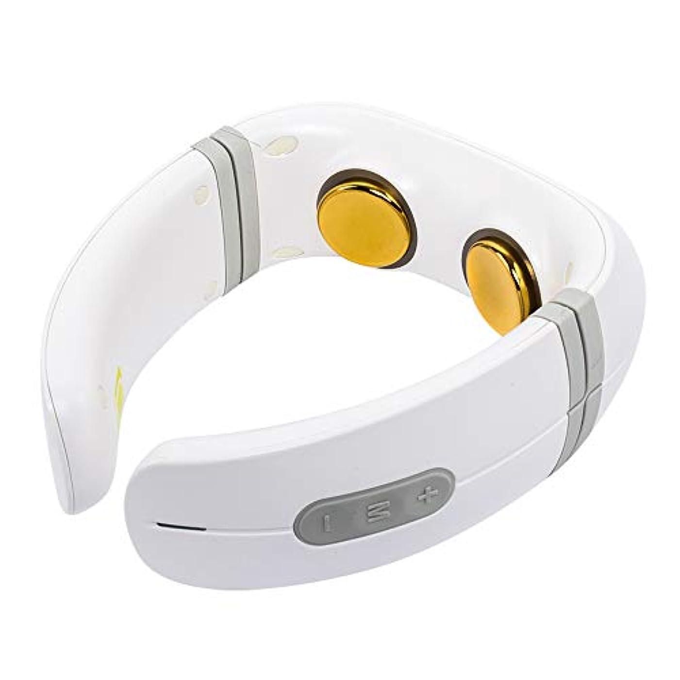 ハブブ邪魔する使い込む首マッサージャー電気、熱と頸部パルスマッサージ、混練 - 首、背中、肩、筋肉痛の軽減、全身 - 自宅、オフィス、車、ベッド用