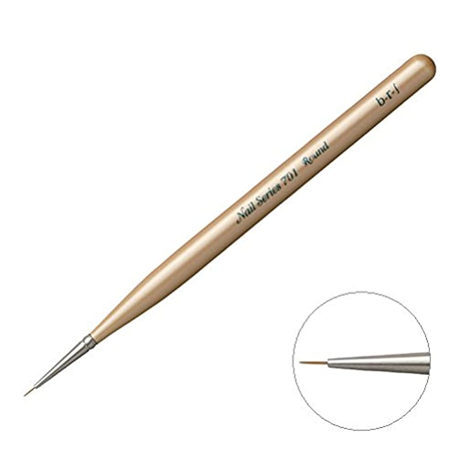 理想的には最小化する石膏ブルーシュ 701 ラウント゛スリムフ゛ラシ 全長129mm?ナイロン毛