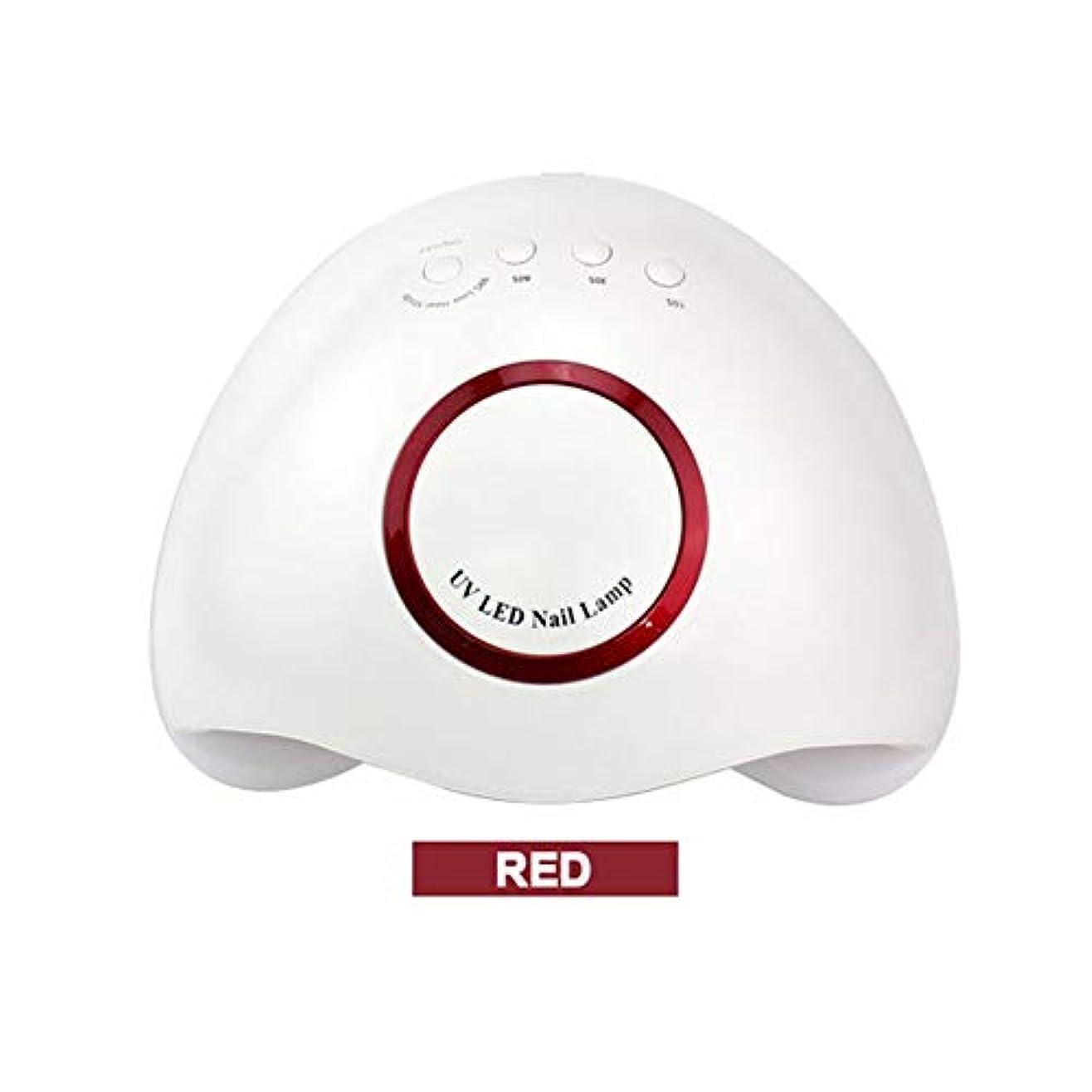 苦情文句昇るファンタジー48W24ランプビーズ第3ギアタイミング無痛モードジェルネイルライトポリッシュ硬化乾燥機,Red