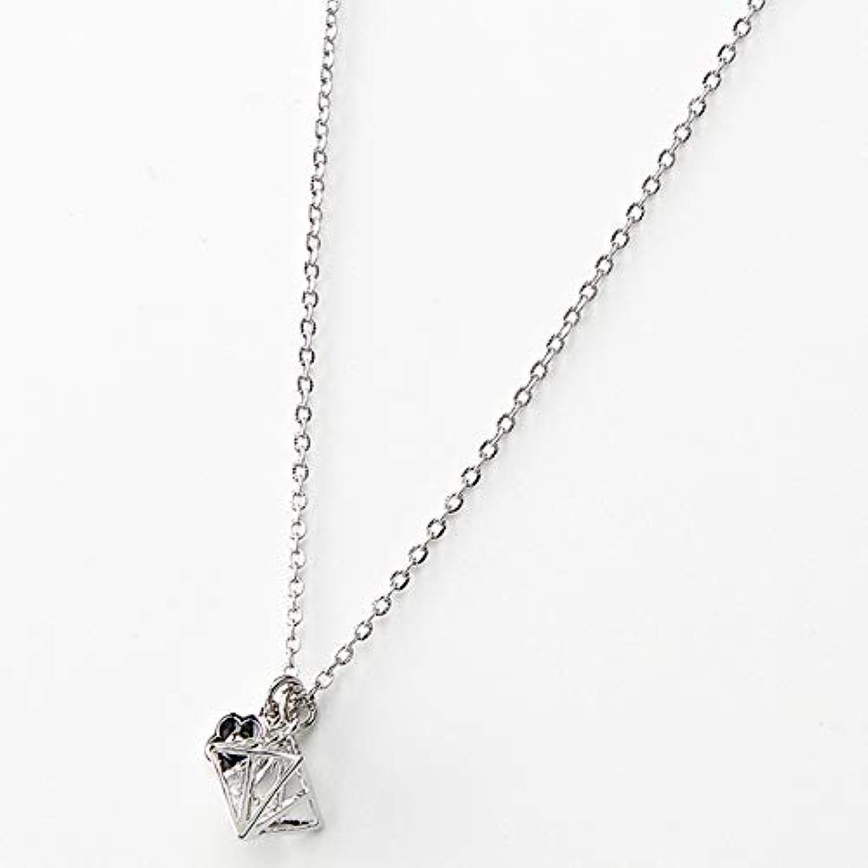 マリークヮント(MARY QUANT) ダイヤフレームキュービックネックレス【160/シルバー/FREE】
