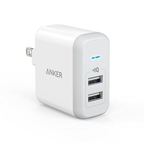 Anker PowerPort 2 (24W 2ポート USB急速充電器 折畳式プラグ搭載) iPhone 6s / 6 / 6 Plus、 iPad Air 2 / mini 3、 Galaxy S6 / S6 Edge / Edge+、 Note 5 など対応 (ホワイト) A2141123