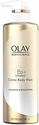 Olay Bodyscience Cleansing & Brightening Crème Body Wash 500 Ml, 500.0 millili