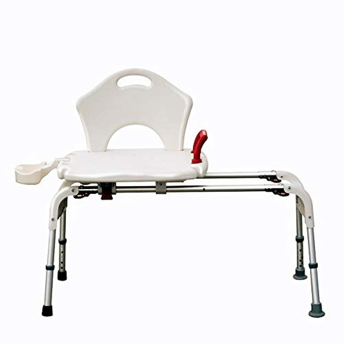 ブランド名ケイ素はぁ背部およびシャワー?ヘッドのホールダーが付いているデラックスな高さの調節可能なアルミニウムBath/シャワーの椅子