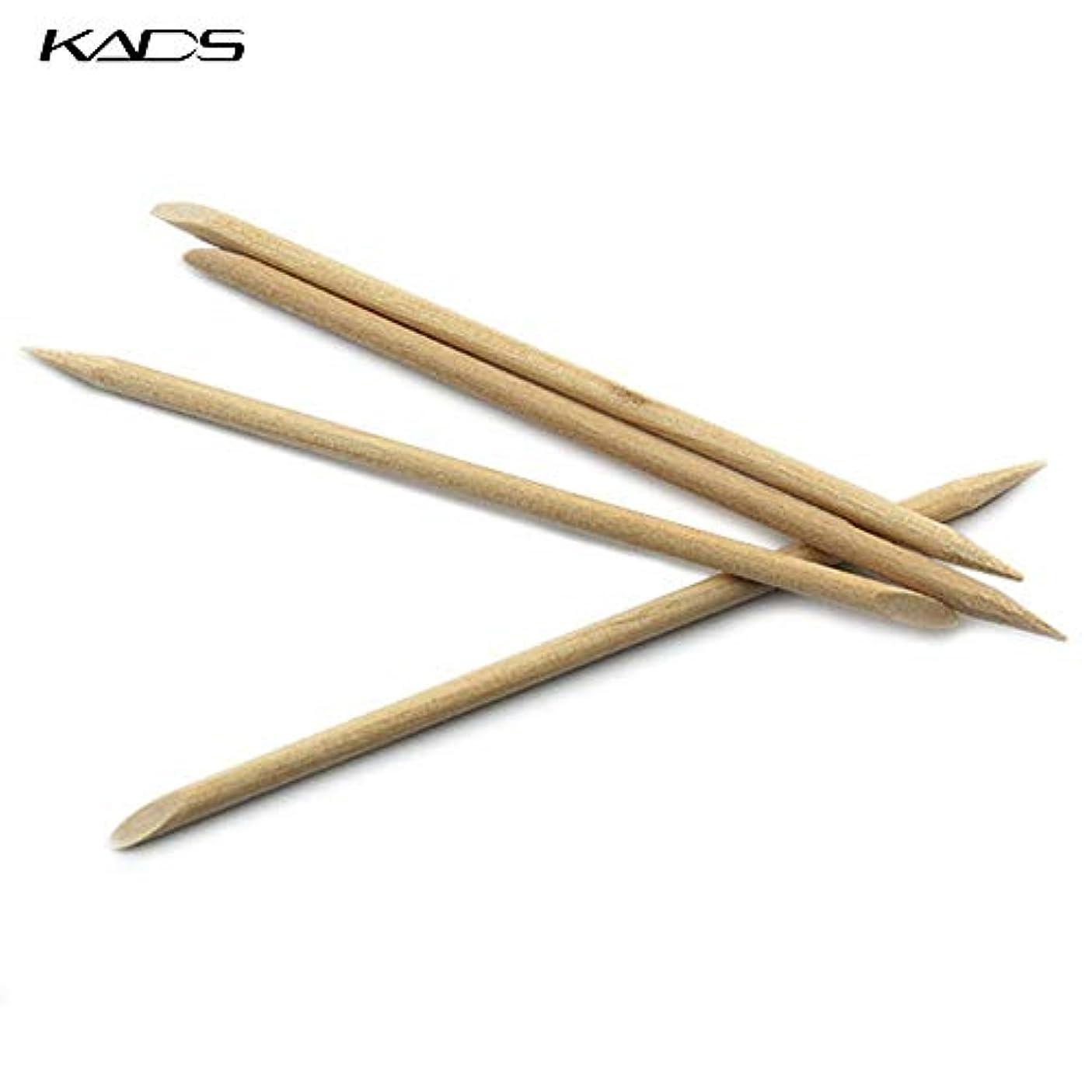 ぼかす書き出す切断するKADS 最高品質オレンジウッドスティック ジェルネイル用 5本入り(ウッド棒 検定)