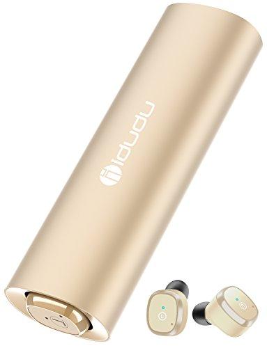 完全ワイヤレス イヤホン Bluetooth イヤホン Bluetooth 5.0 IPX5 ブルートゥース イヤホン 自動ペアリング 防水&防汗 片耳&両耳とも対応 マイク内蔵 Siri対応 収納ケース付 iPhone Android 対応 (ゴールド)
