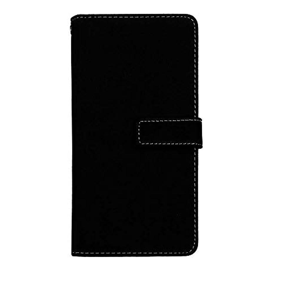 対称手つかずのスパイラルXiaomi Redmi S2 高品質 マグネット ケース, CUNUS 携帯電話 ケース 軽量 柔軟 高品質 耐摩擦 カード収納 カバー Xiaomi Redmi S2 用, ブラック