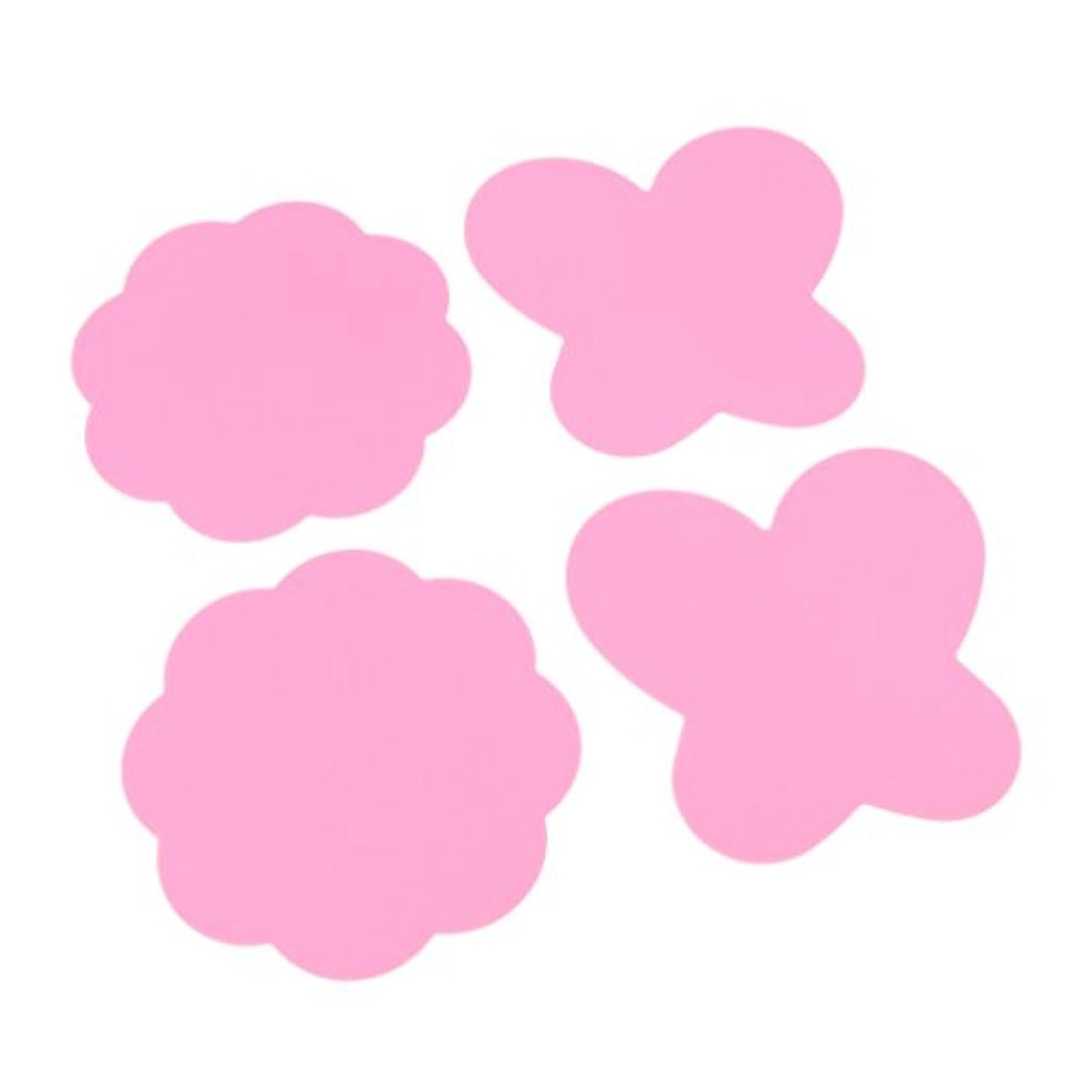 大胆な不調和マイクミキシングペイント マット パレットマット 折り畳み式 シリコン 4個 全4色 - ピンク