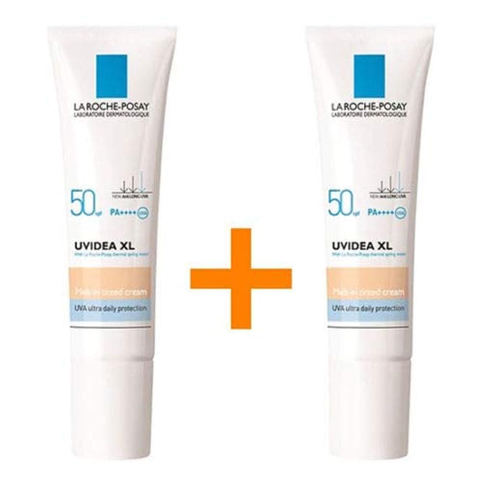 コンテスト香ばしい倒錯[1+1] La Roche-Posayラロッシュポゼ UVイデア XL Melt-In Tinted ティント クリームSPF50/PA++++ 30mL