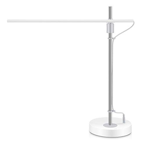 LED デスクライト 目に優しい 垂直・360°水平調整 3段階調光 タッチセンサー 読書 仕事 学習 電気スタンド YABAE TKMK-3 (ホワイト)