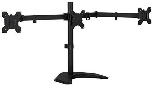 mount-it 。モニターデスクスタンドLCDマウント、調節可能、フリーStanding 2つコンピュータLED表示スタンド20、23、24、27インチの画面サイズ、ブラック 3 Horizontal Monitor