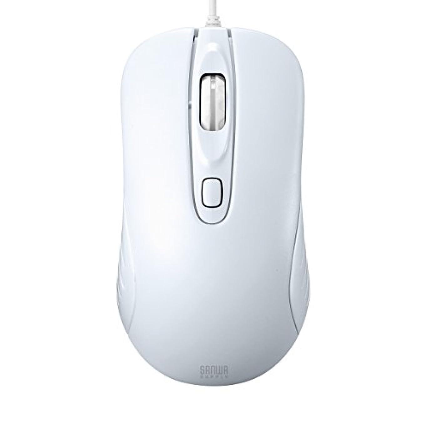 些細なたぶん宿るサンワサプライ 有線レーザーマウス ホワイト MA-LS27W
