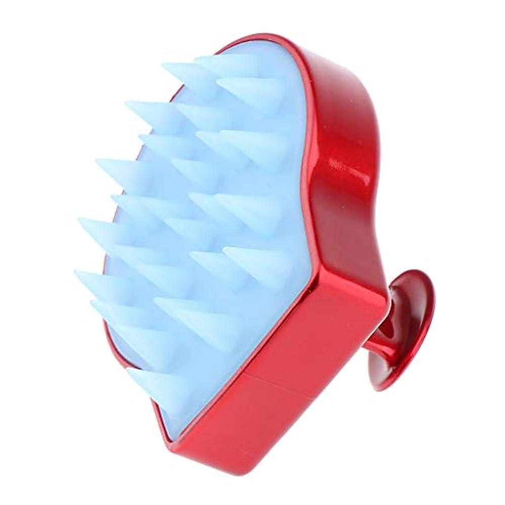 含むプレフィックス余分な洗髪ブラシ ソフトシリコン シャンプーブラシ 頭皮マッサージ くし