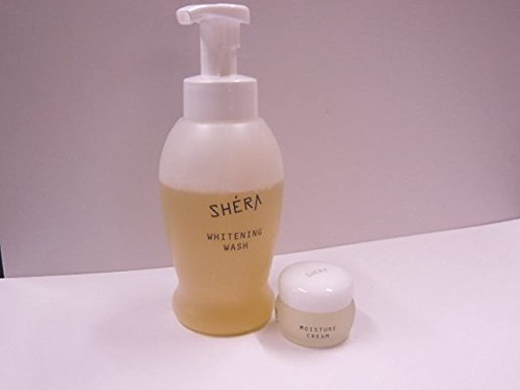 強大な始まり理容室きれいになる2!SHERA シェラバートン シェラウオッシュ 380ml泡タイプ+SHERA moisture cream(保湿ジェル)35g
