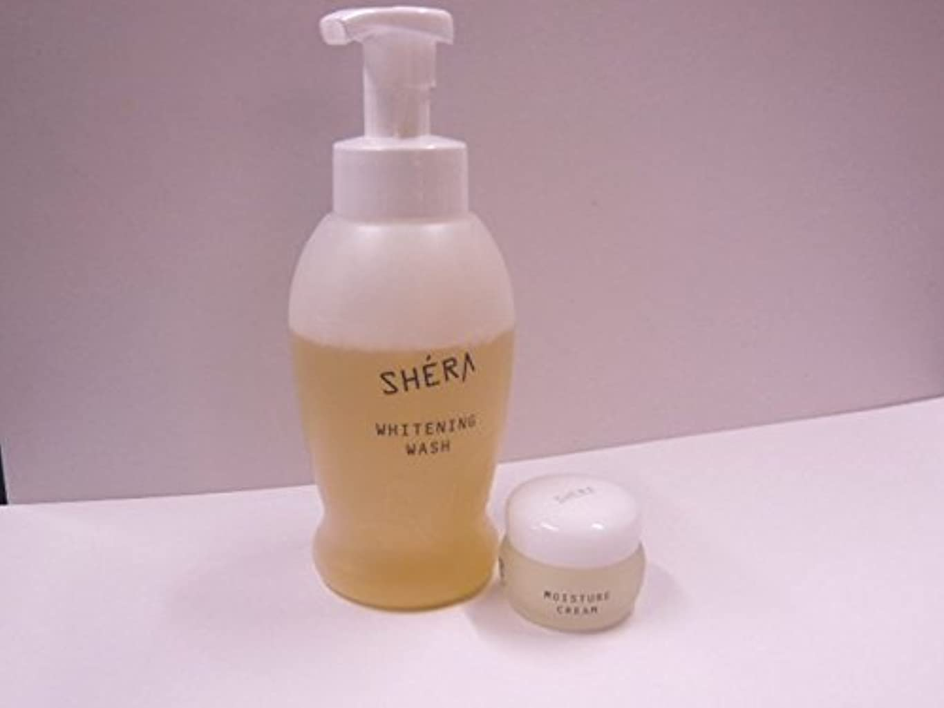 プラグ通信するサッカーきれいになる2!SHERA シェラバートン シェラウオッシュ 380ml泡タイプ+SHERA moisture cream(保湿ジェル)35g