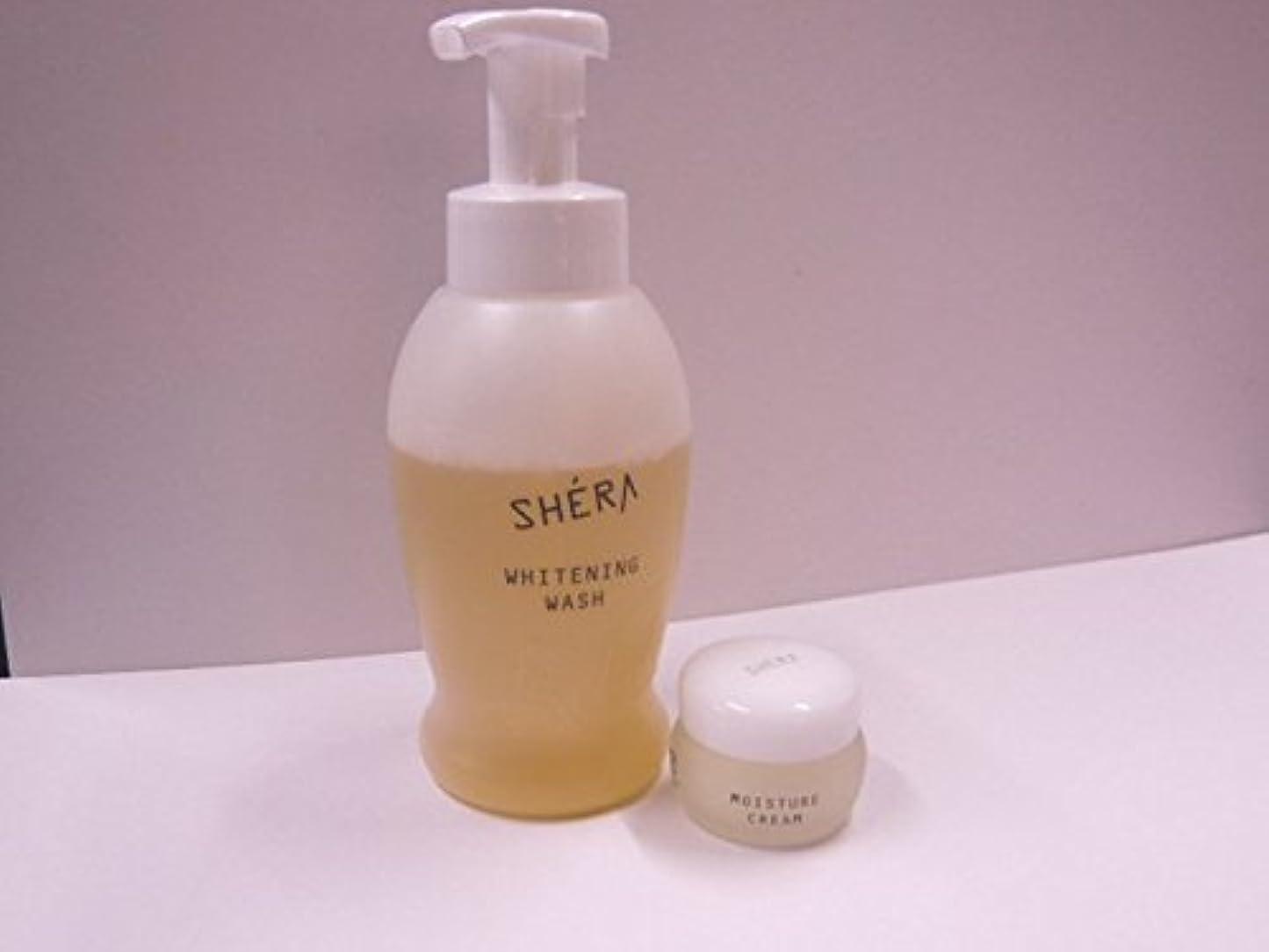 入場写真を撮る松明きれいになる2!SHERA シェラバートン シェラウオッシュ 380ml泡タイプ+SHERA moisture cream(保湿ジェル)35g