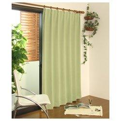 遮光カーテン モンブラン(100×200cm/ライトグリーン)