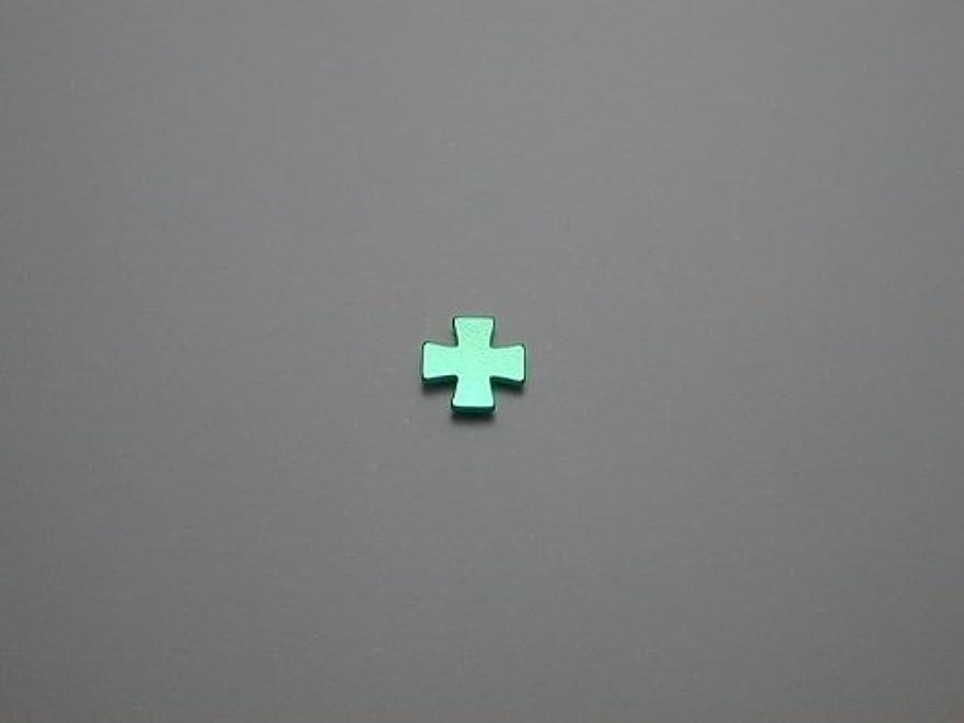 ジャンル差し迫ったインデックス純チタンピアス 片耳 十字A グリーン緑 金属アレルギーの方も安心