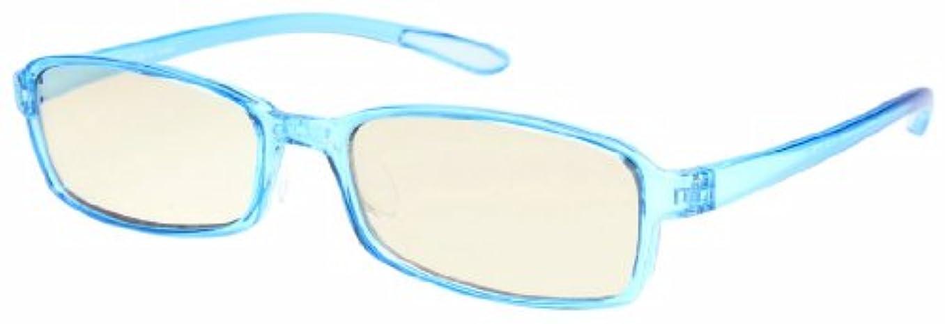 コンデンサー中につぶやきエニックス 老眼鏡 ブルーライトカット +2.0 度数 スウィートアイ ブルー アクア SE01AQUA2.00