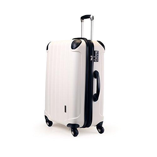 スーツケース TSAロック 超軽量 KT063F SS M L SUITCASE SSサイズ完全機内持ち込み M Lサイズ容量UP 4輪360度回転静音キャスター YKK 旅行カバン キャリーケース 旅行用品 国内海外 修学旅行海外留学 ビジネスバック キャリーバック (SS 小型, ホワイト)