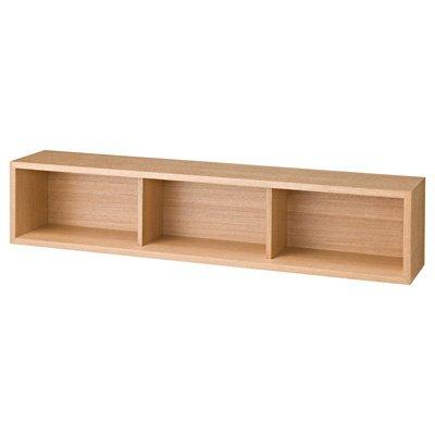 無印良品 壁に付けられる家具・箱・幅88cm・タモ材/ナチュラル 幅88×奥行15.5×高さ19cm