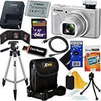 Canon PowerShot sx730HS 20.3MPデジタルカメラwith 40x光学ズーム、Wi - Fi、NFC、Bluetooth & HD 1080pビデオ(シルバー)インターナショナルバージョン+ 12pc 64GBデラックスアクセサリーキットW/HeroFiber布