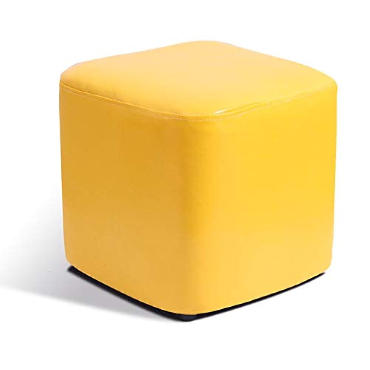 ファランクスどちらか薄いですの立方体オスマン4足パッド付きフットレストシート利用できるフットスツールオスマンPUプーフシート| Jtogo.jpリビングルーム用フットスツール (Color : F)