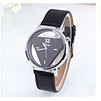BDEAL Daily Luxury Double Triangle Hollow Harajuku Personality Fashion Watch Student Couple Table