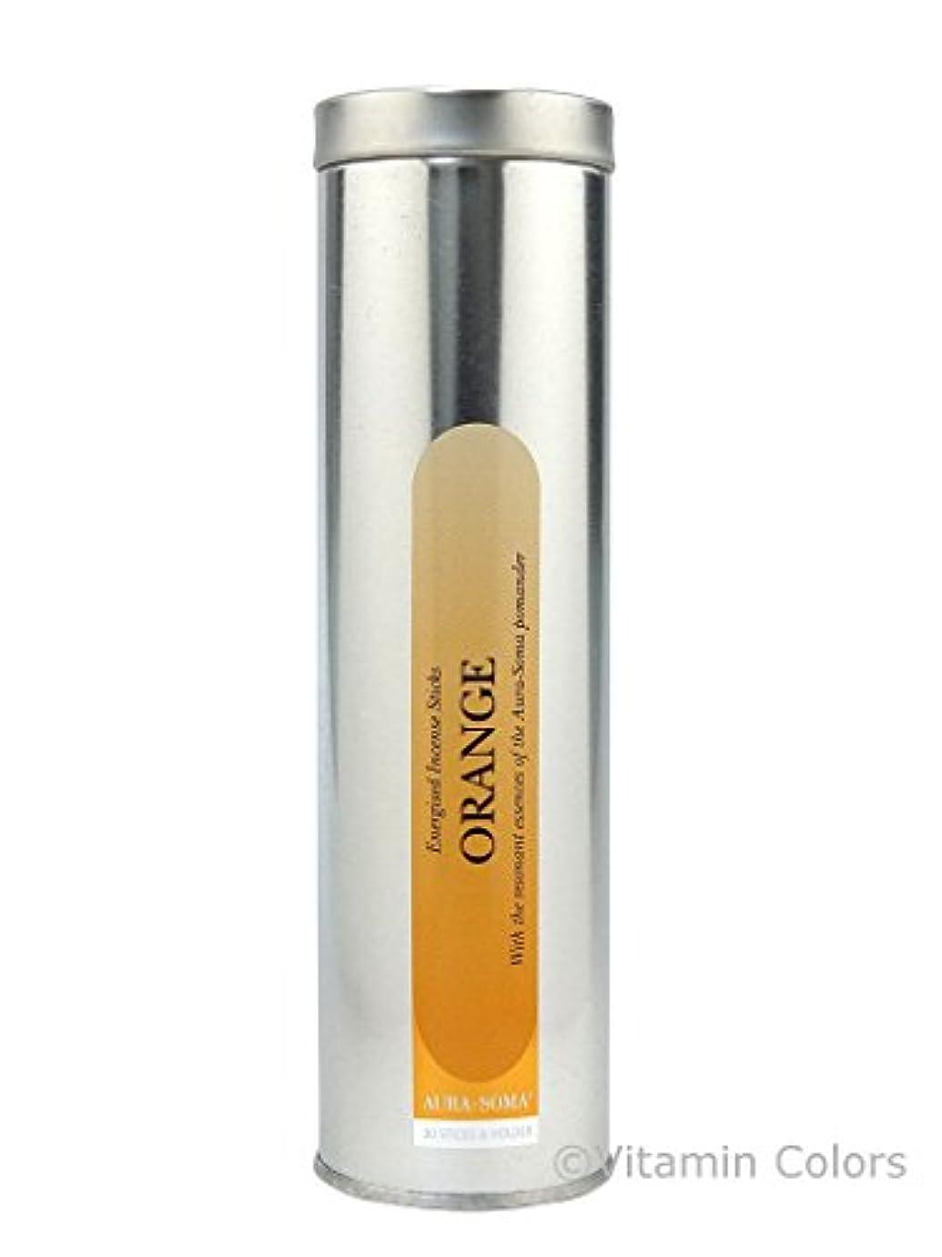 ループファッション厚いオーラソーマ インセンススティック オレンジ Aurasoma