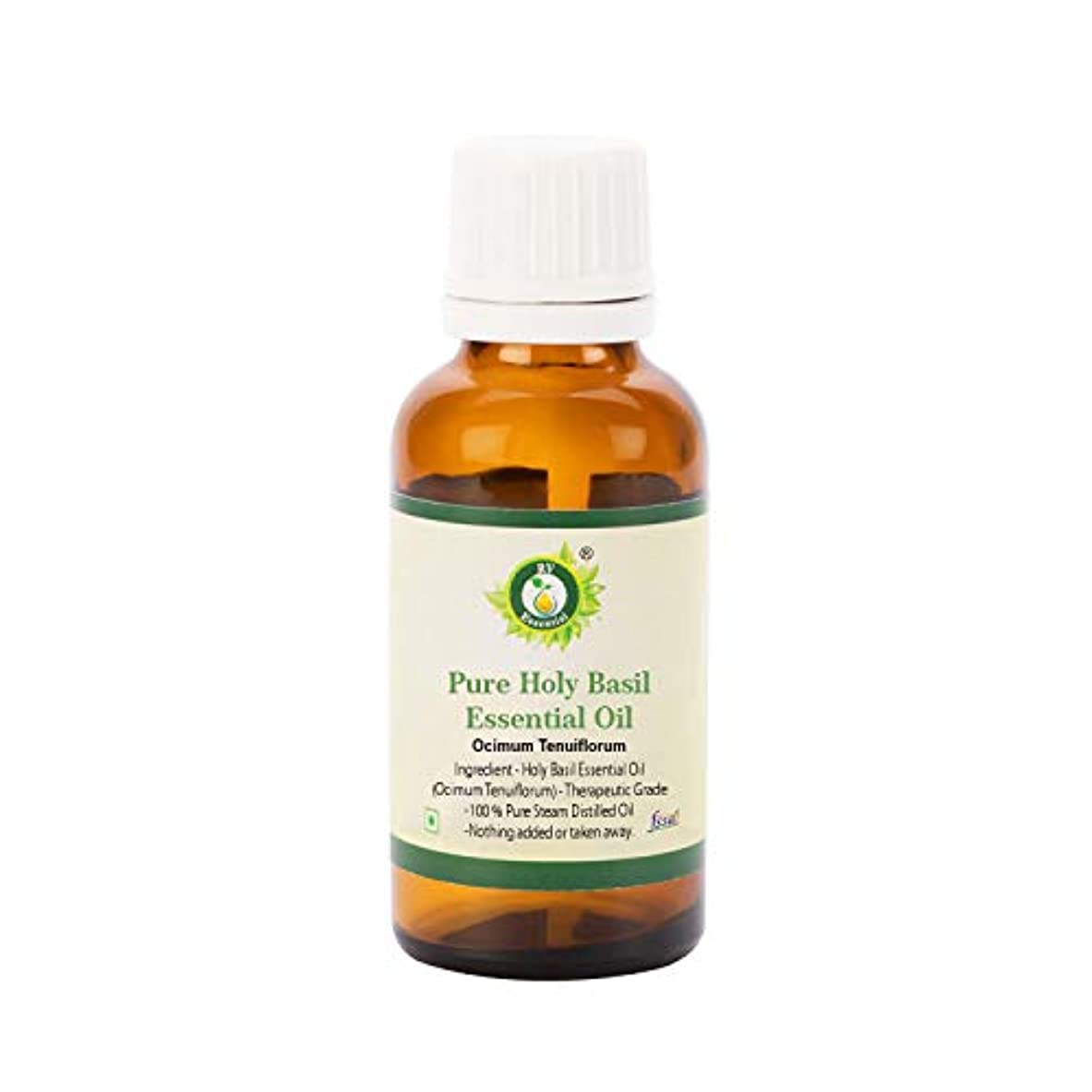 援助アンテナ新鮮なR V Essential ピュアホーリーバジルエッセンシャルオイル30ml (1.01oz)- Ocimum Tenuiflorum (100%純粋&天然スチームDistilled) Pure Holy Basil Essential...