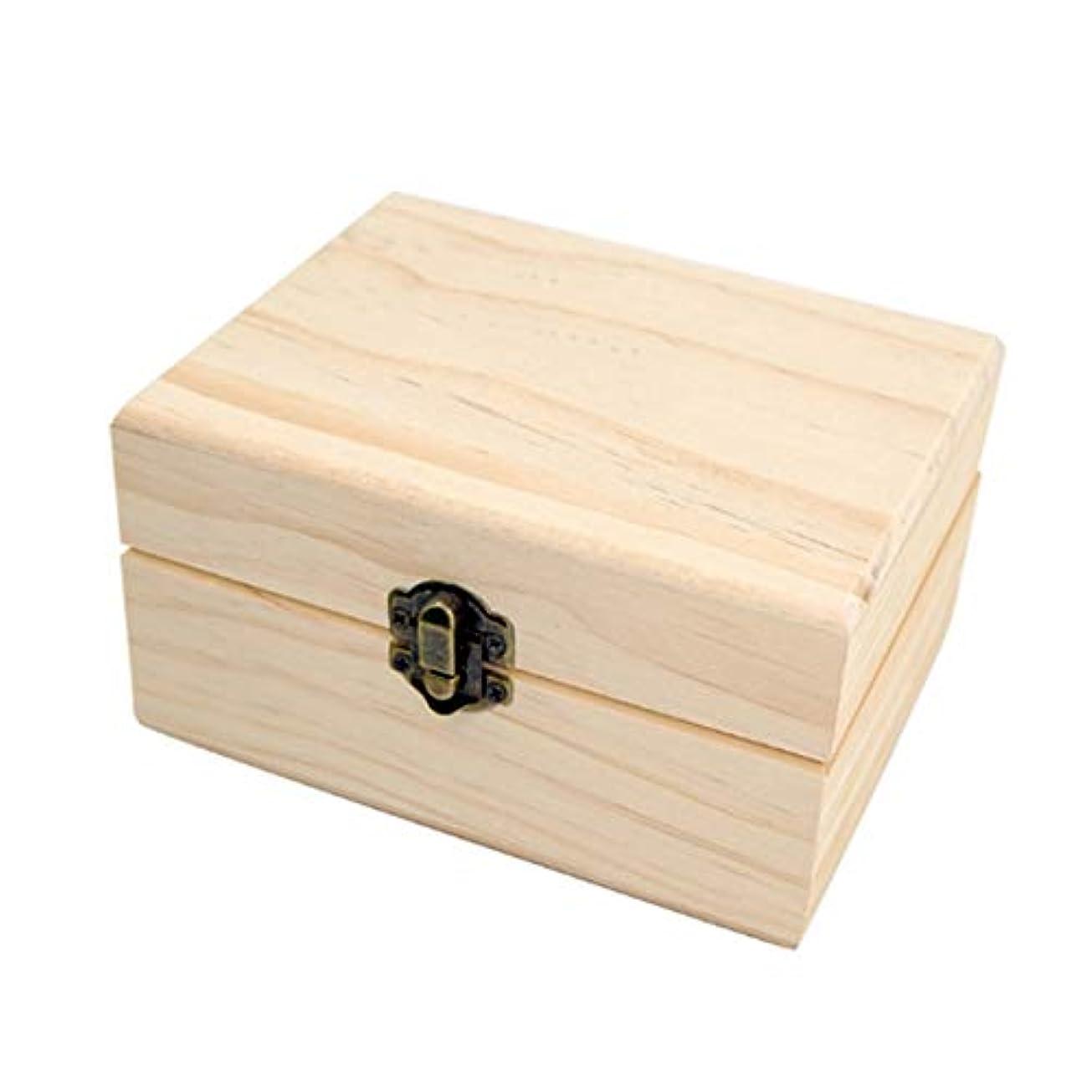 離れて繊維移動フェリモア エッセンシャルオイル 収納ボックス ボトル用 松 木製 格子状 倒れにくい 12マス (ブラウン)