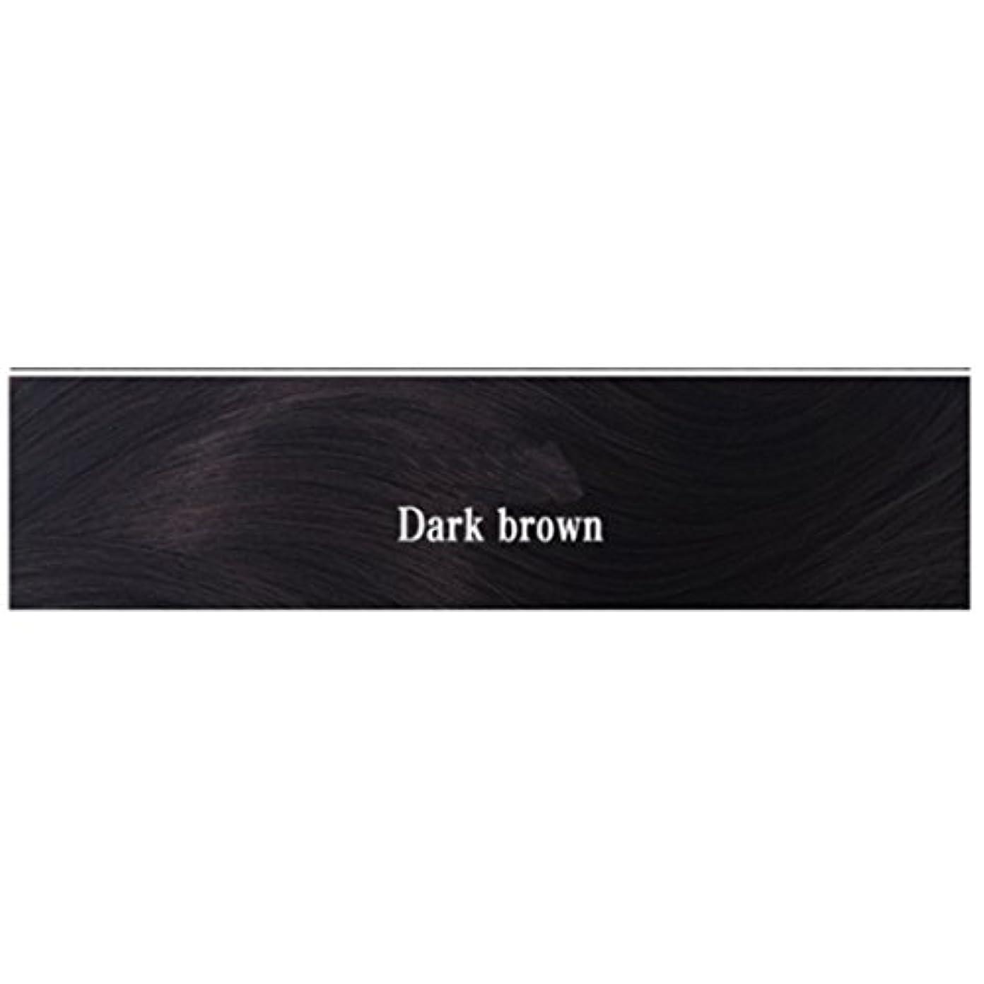 作成する無効にする騒乱JIANFU 女性 耐熱 長い ストレート ウィッグ 人間の髪 フラット バンズ ウィッグ ナチュラル カラー パーティ 220g (Color : Dark brown)