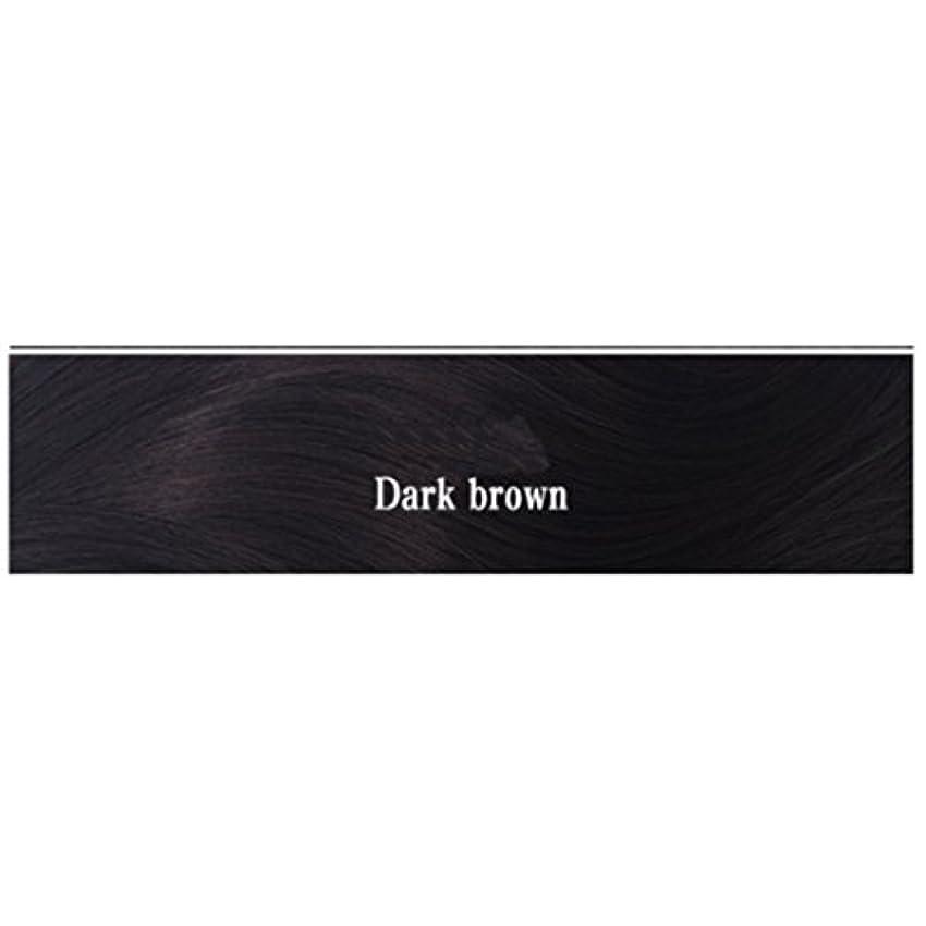 有利液化する創始者JIANFU 女性 耐熱 長い ストレート ウィッグ 人間の髪 フラット バンズ ウィッグ ナチュラル カラー パーティ 220g (Color : Dark brown)