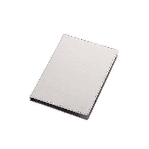 7.0〜8.4インチ汎用タブレットケース(レザータイプ)/白 TB-08LCHWH 1個