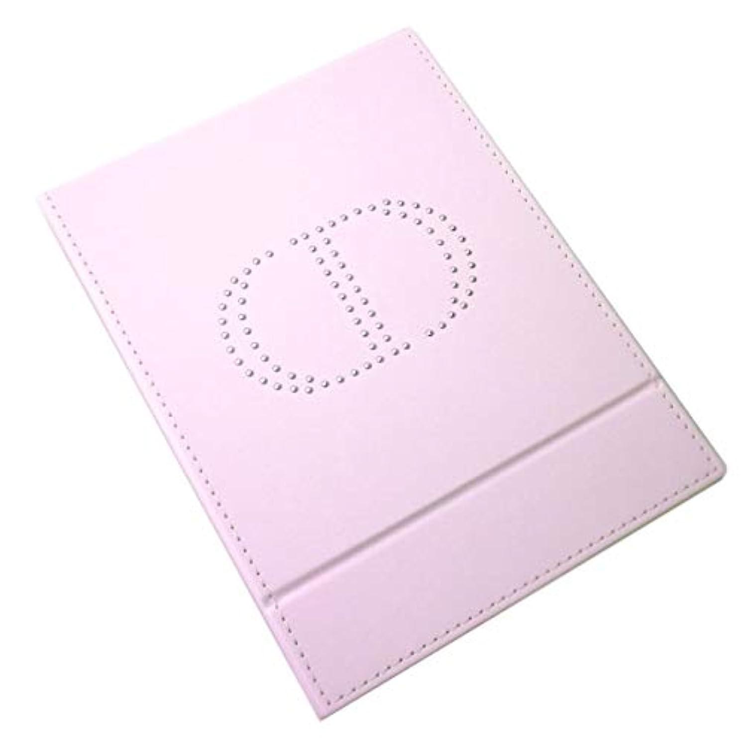 エミュレーション遅れ看板Dior ディオール スタンドミラー ミラー 鏡 ロゴ イブサンローラン 桃 ピンク黒 ブラック 化粧 メイク コスメ (ピンク)