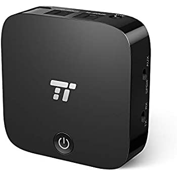 【aptX-LL低遅延 光デジタル接続 送信受信両用】TaoTronics Bluetooth トランスミッター&レシーバー (15時間連続運転 二台同時接続可 Bluetooth5.0) AUX、光デジタル接続対応 高音質 テレビ/ps4/車対応 TT-BA09