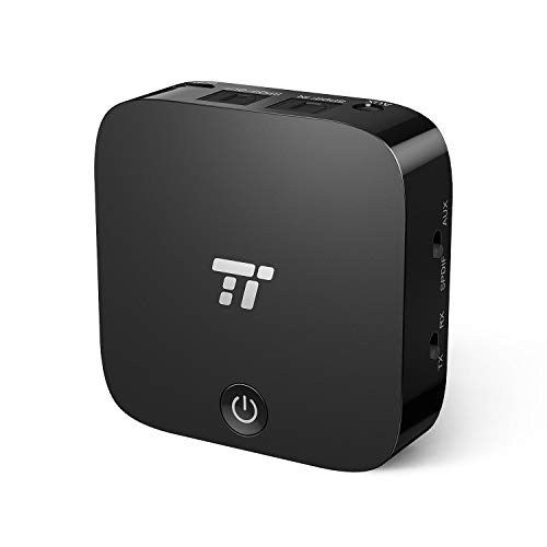 【光デジタル接続 aptX-LL低遅延 送信受信両用】TaoTronics Bluetooth トランスミッター&レシーバー (15時間連続運転 二台同時接続可 Bluetooth5.0) AUX、光デジタル接続対応 高音質 テレビ/ps4/車対応 TT-BA09