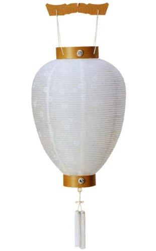 【お盆 提灯】【吊り提灯】 新盆用提灯「相極白紋天柾」