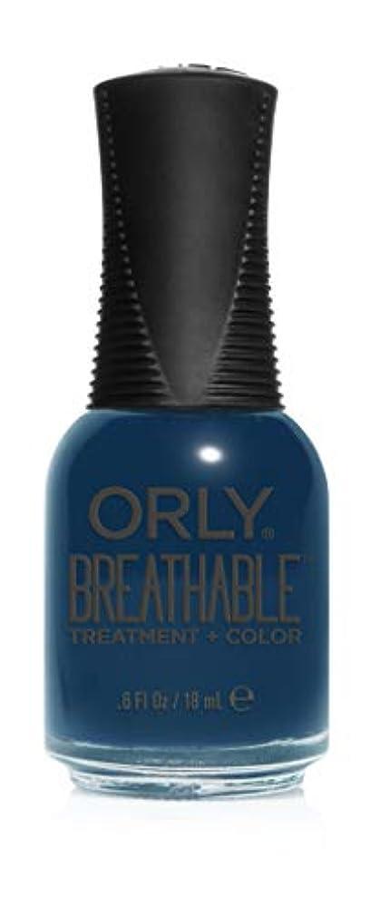繊維下にまろやかなOrly Breathable Treatment + Color Nail Lacquer - Good Karma - 0.6oz / 18ml