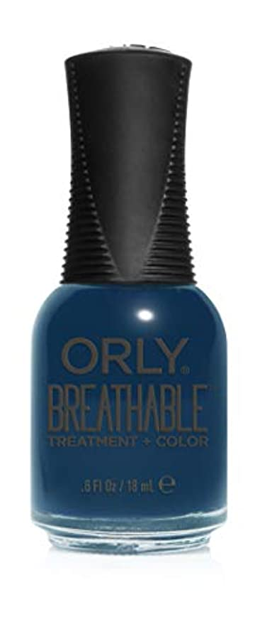 屋内でちなみにカバレッジOrly Breathable Treatment + Color Nail Lacquer - Good Karma - 0.6oz / 18ml