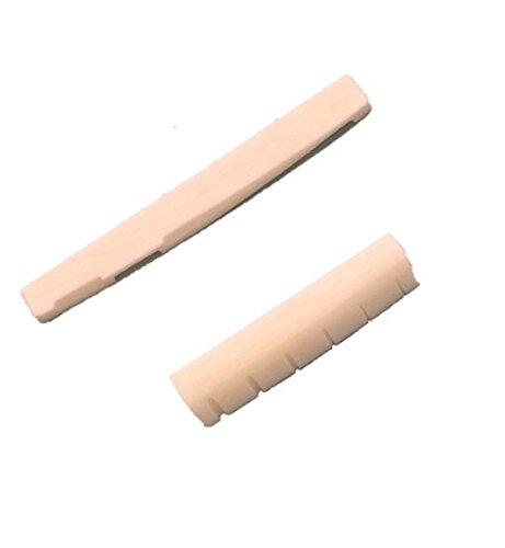 よく鳴る 牛骨製ナット サドル セット アコギ 用 (1 SET)