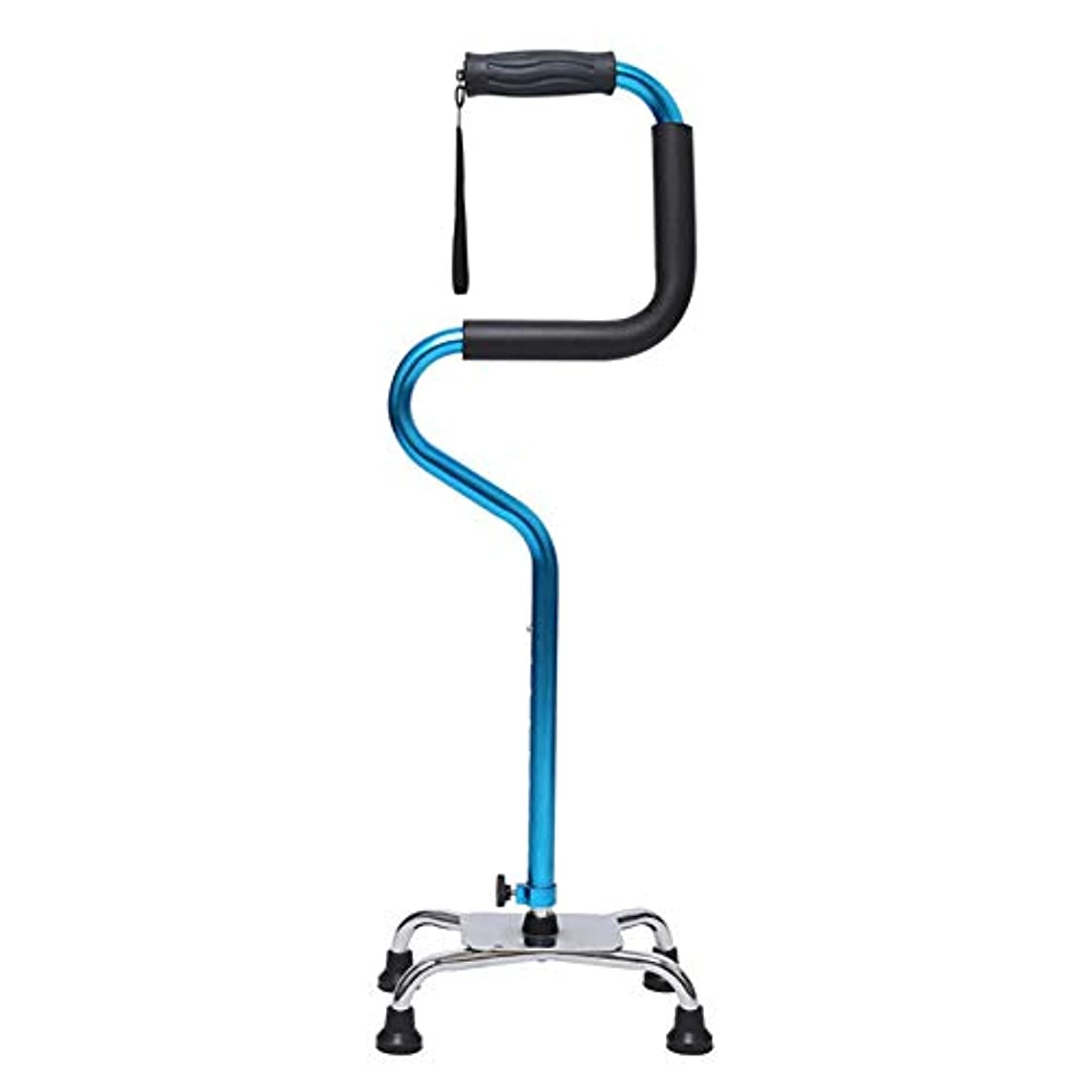 言い聞かせるタッチボット杖ステッキ男性と女性のための安定性サポート4つの丈夫なアルミニウム旅行援助の調節可能な高さのための軽量の快適な左右のグリップ