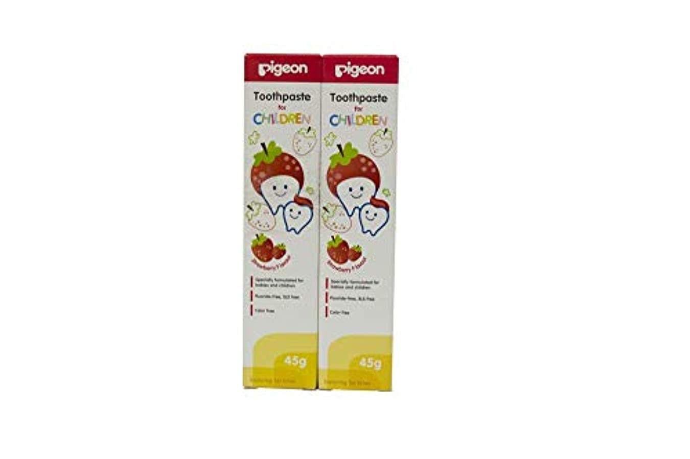 肺迫害レーザPigeon Strawberry Toothpaste (45g, Pack of 2)