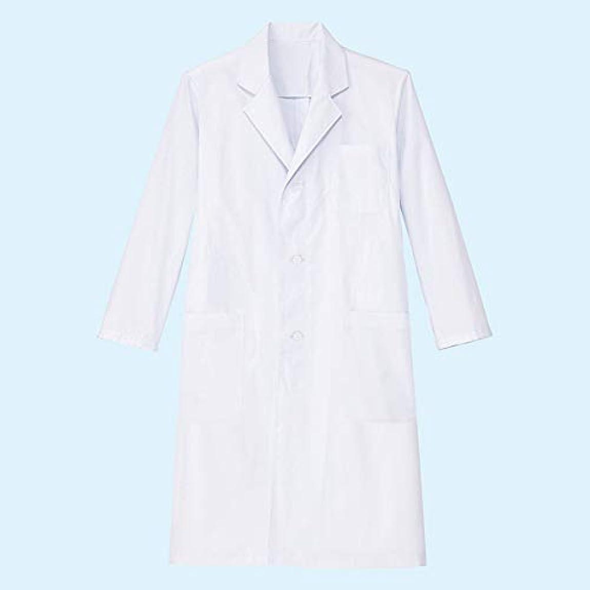 土地フルート毎年帝人フロンティア シングル診察衣 メンズ ホワイト DCSL-MW 1枚 白衣 ドクターコート 実験白衣