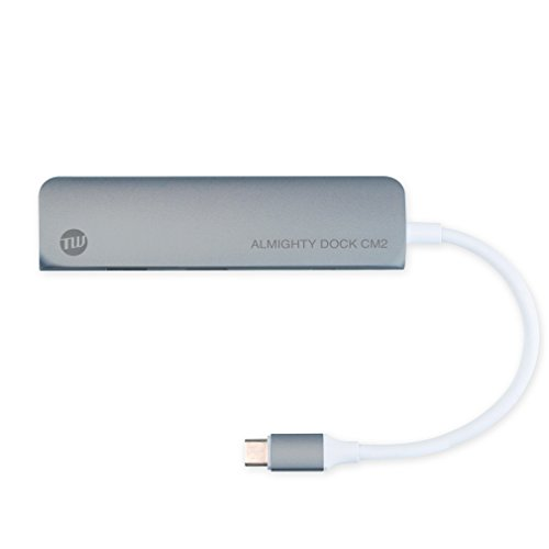 TUNEWEAR ALMIGHTY DOCK CM2 MacBook対応 マルチUSB-Cハブ (USB Aポート x2/ USB Cポート/ HDMIポート) スペースグレイ TUN-OT-000036