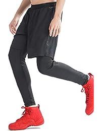 acier (アシエ) ランニングパンツ メンズ ハーフパンツ レギンス 一体型 スポーツウェア ロングパンツ