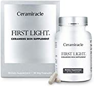 Ceramiracle First Light Ceramides Skin Supplement | Anti-Aging, Boost Hydration, Firmer Skin | Ceramosides Phy